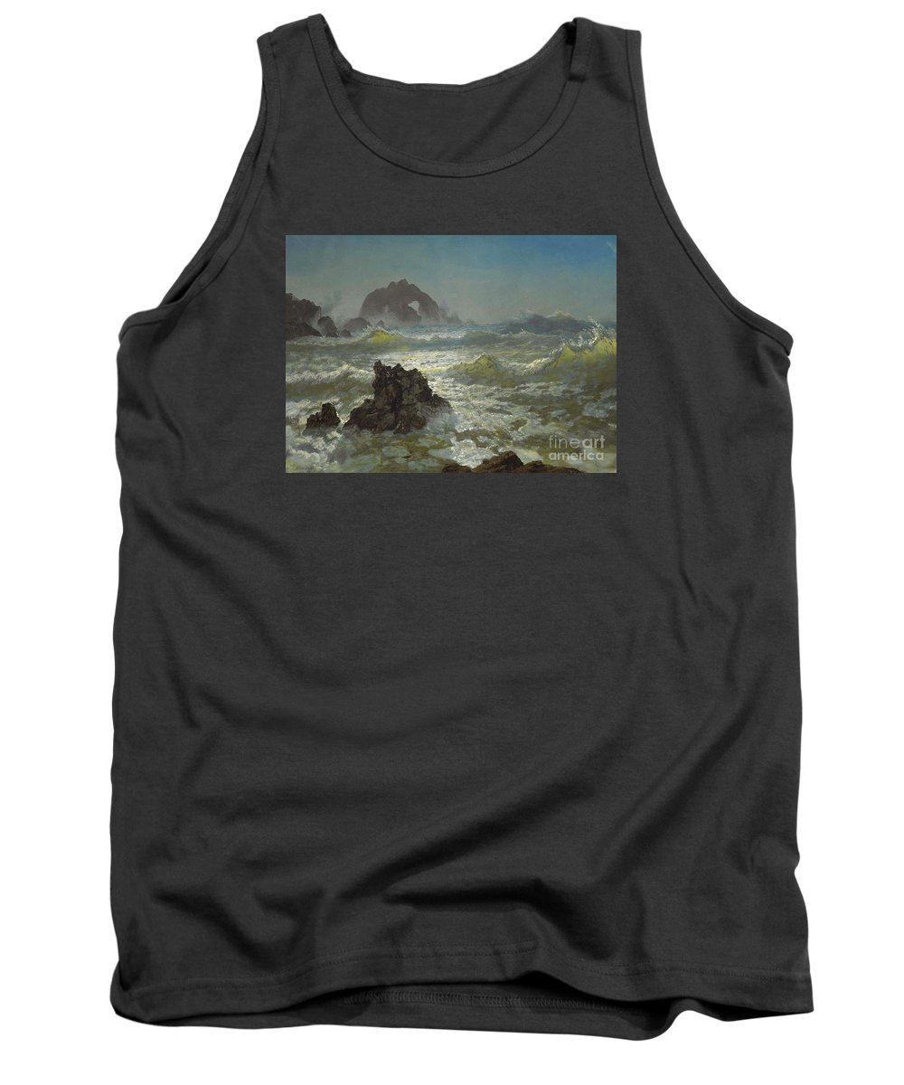 Albert_bierstadt_-_seal_rock Tank Top featuring the painting Seal_rock,_california by Celestial Images