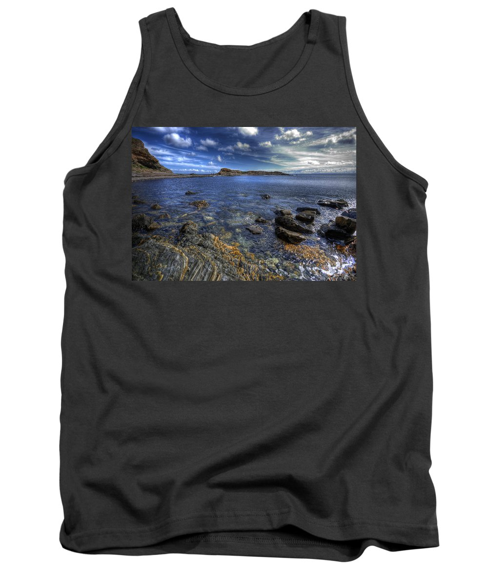Rocks Tank Top featuring the photograph Seaside Snap by Wayne Sherriff