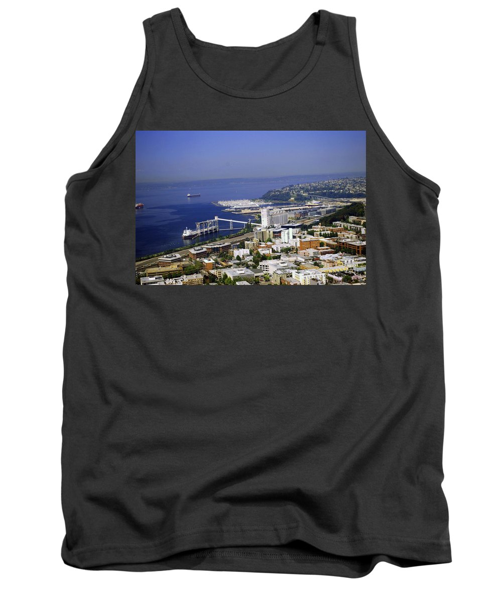 Seattle Tank Top featuring the photograph Seattle Waterfront by Gary Wonning
