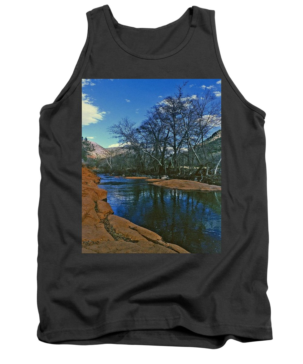 Pool Tank Top featuring the photograph Sedona Arizona Tranquil Pool by Gary Wonning