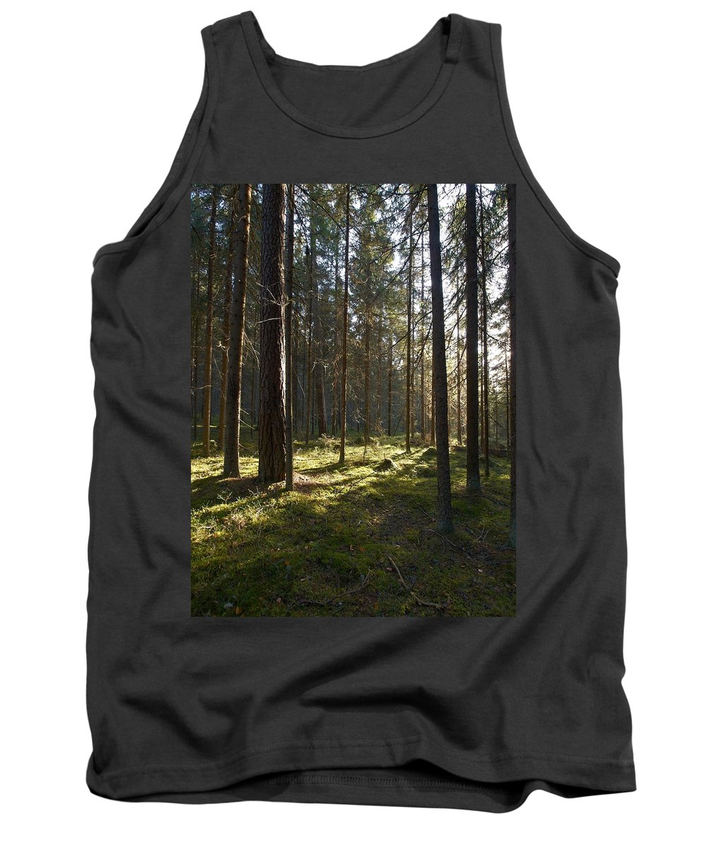 Lehtokukka Tank Top featuring the photograph Seitseminen National Park by Jouko Lehto