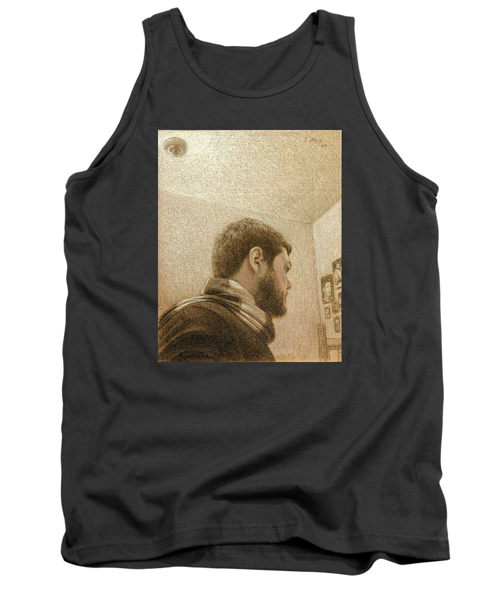 Tank Top featuring the painting Self by Joe Velez