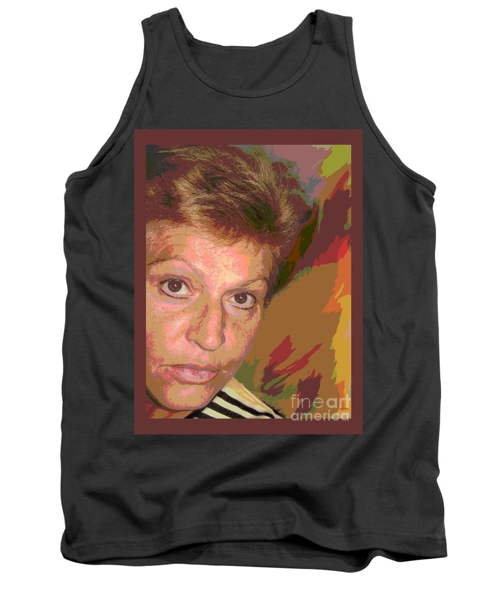 Self Portrait Tank Top featuring the photograph self portrait IV by Dragica Micki Fortuna