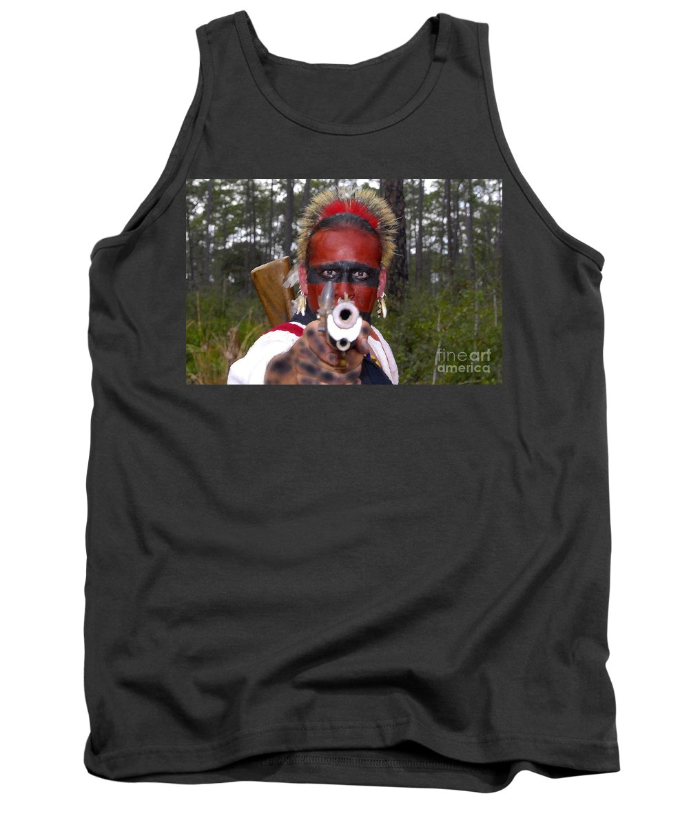 Seminole Indian Tank Top featuring the photograph Seminole Warrior by David Lee Thompson
