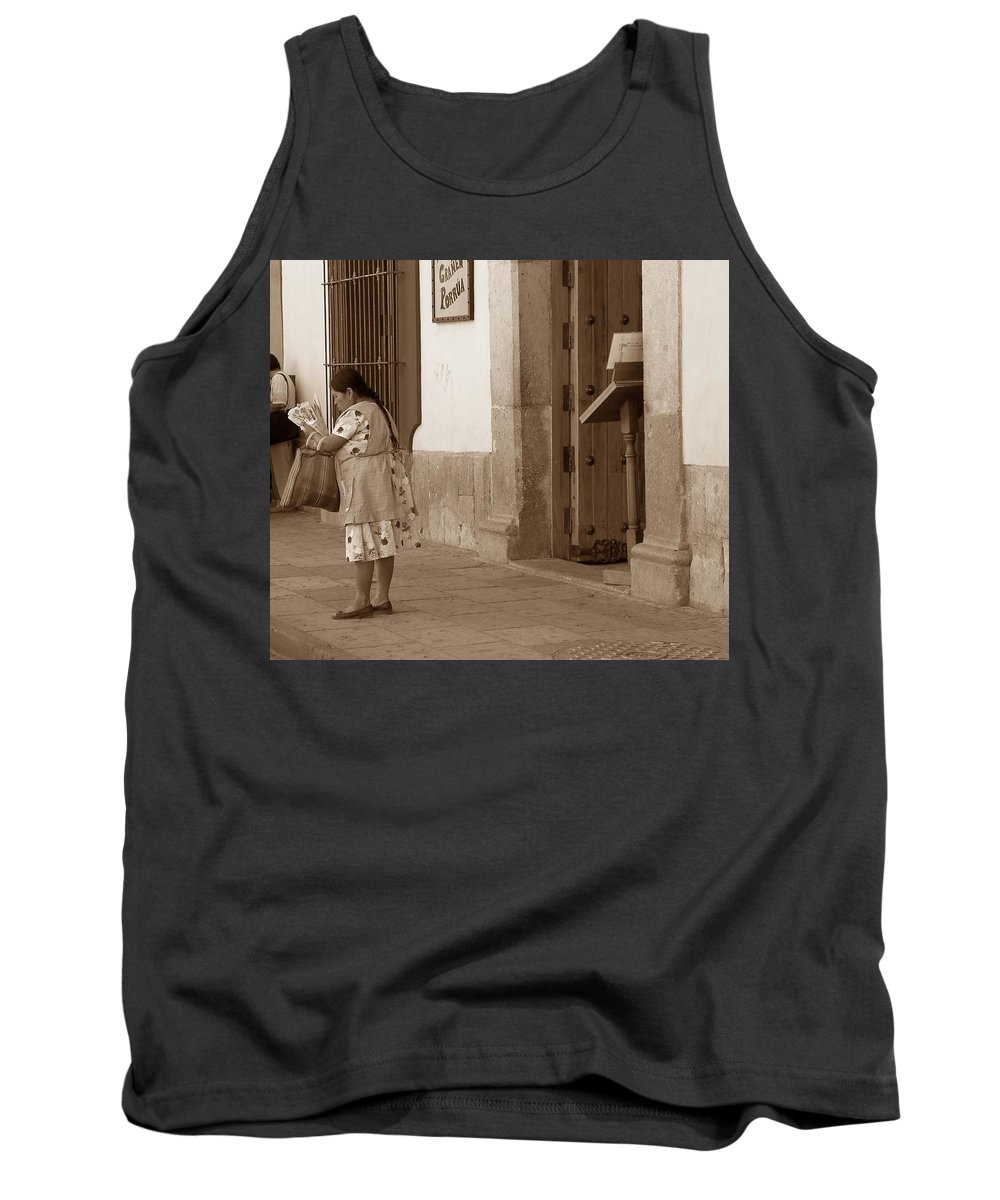 Charity Tank Top featuring the photograph Senora by Mary-Lee Sanders