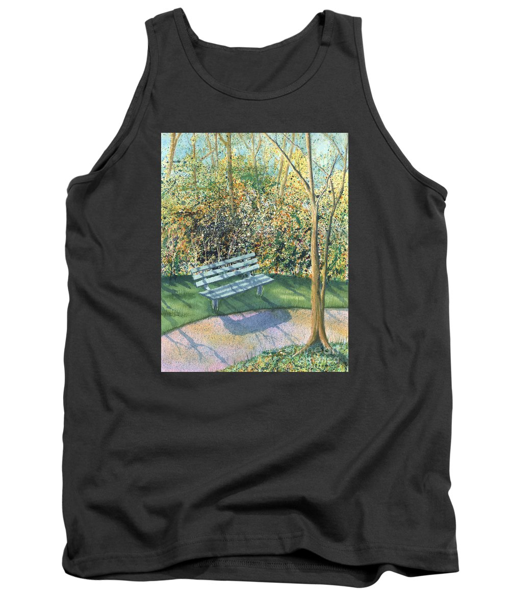 Autumn Trees Tank Top featuring the painting September Afternoon by Lynn Quinn
