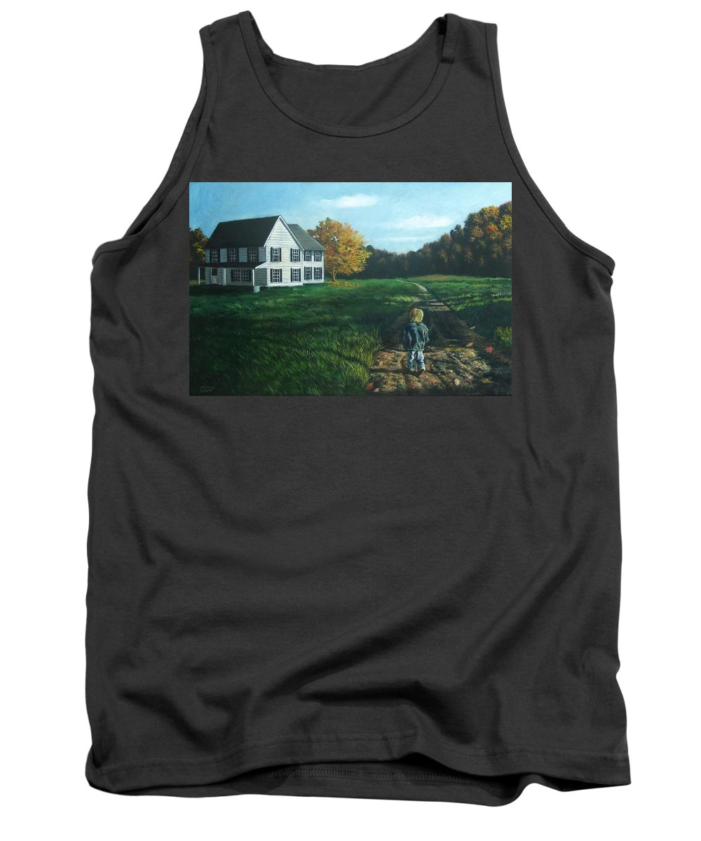 Pennsylvania Tank Top featuring the painting September Breeze Number 4 by Christopher Shellhammer