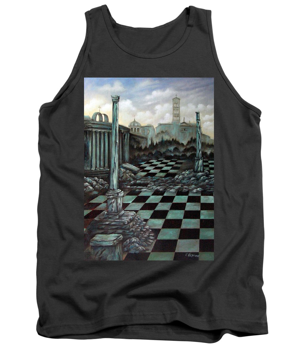Surreal Tank Top featuring the painting Sepulchre by Valerie Vescovi