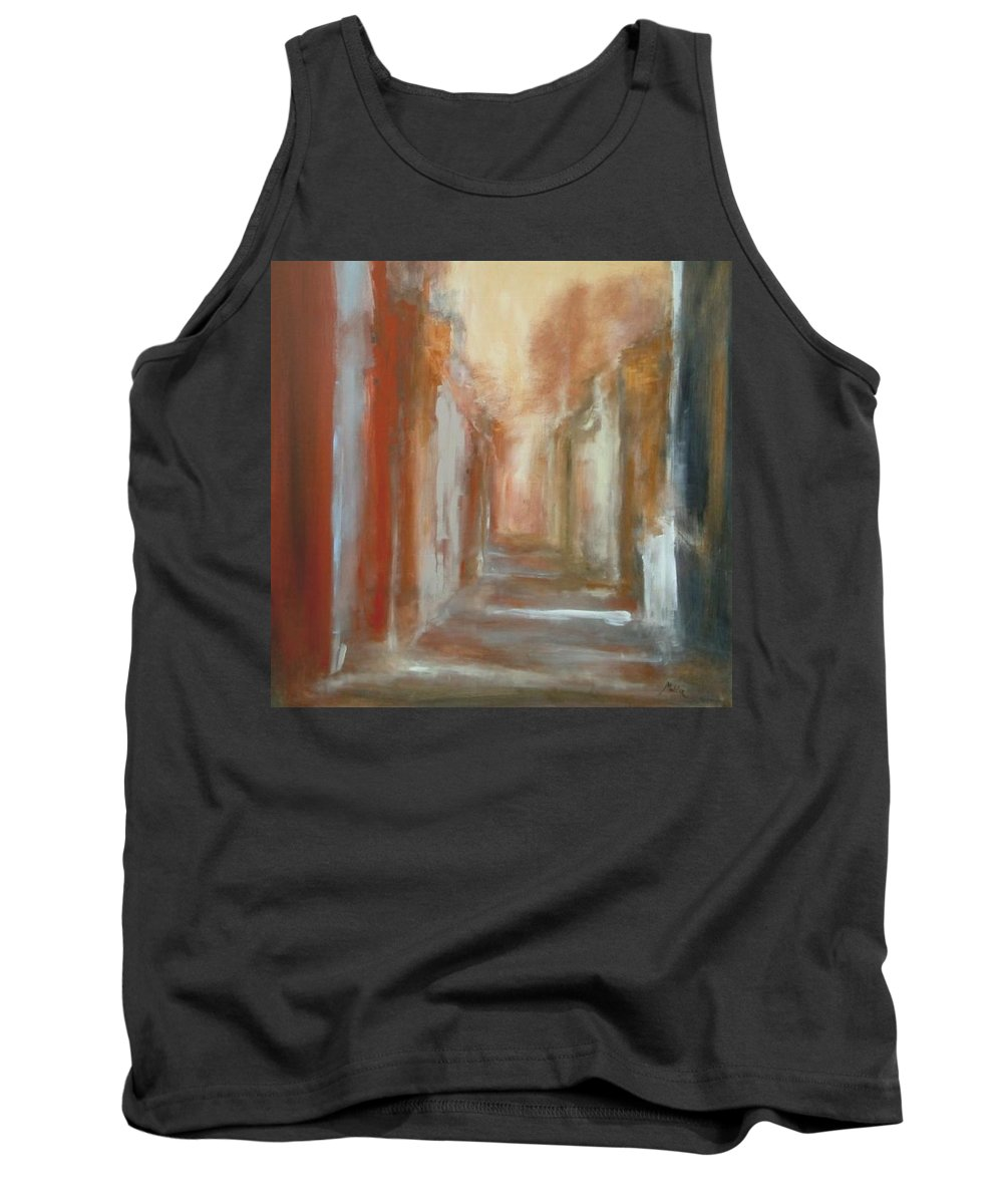 Abstract Tank Top featuring the painting Serenity by Rome Matikonyte