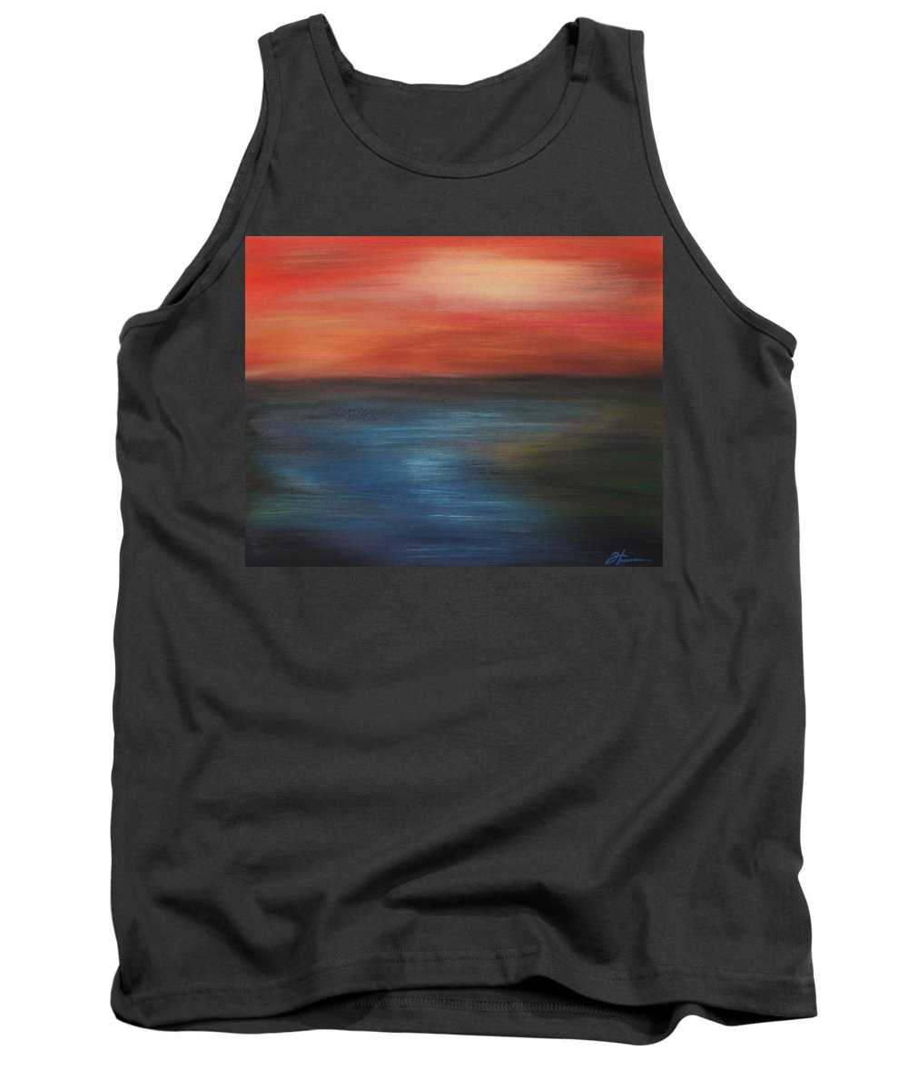 Scenic Tank Top featuring the painting Serenity by Todd Hoover