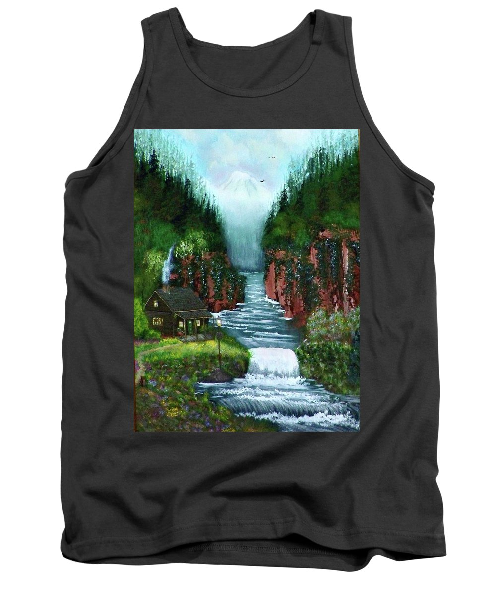 Photography Tank Top featuring the photograph Serenity Valley by Laurie Kidd