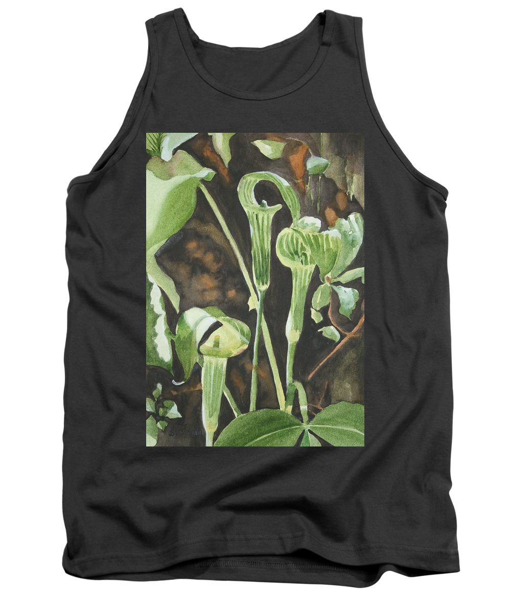 Woods Tank Top featuring the painting Sermon In The Woods by Jean Blackmer