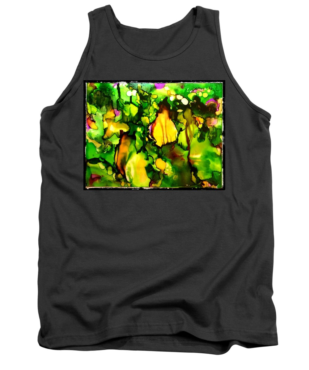 Alcohol Ink Tank Top featuring the glass art Sg No. 2 by Jennifer King