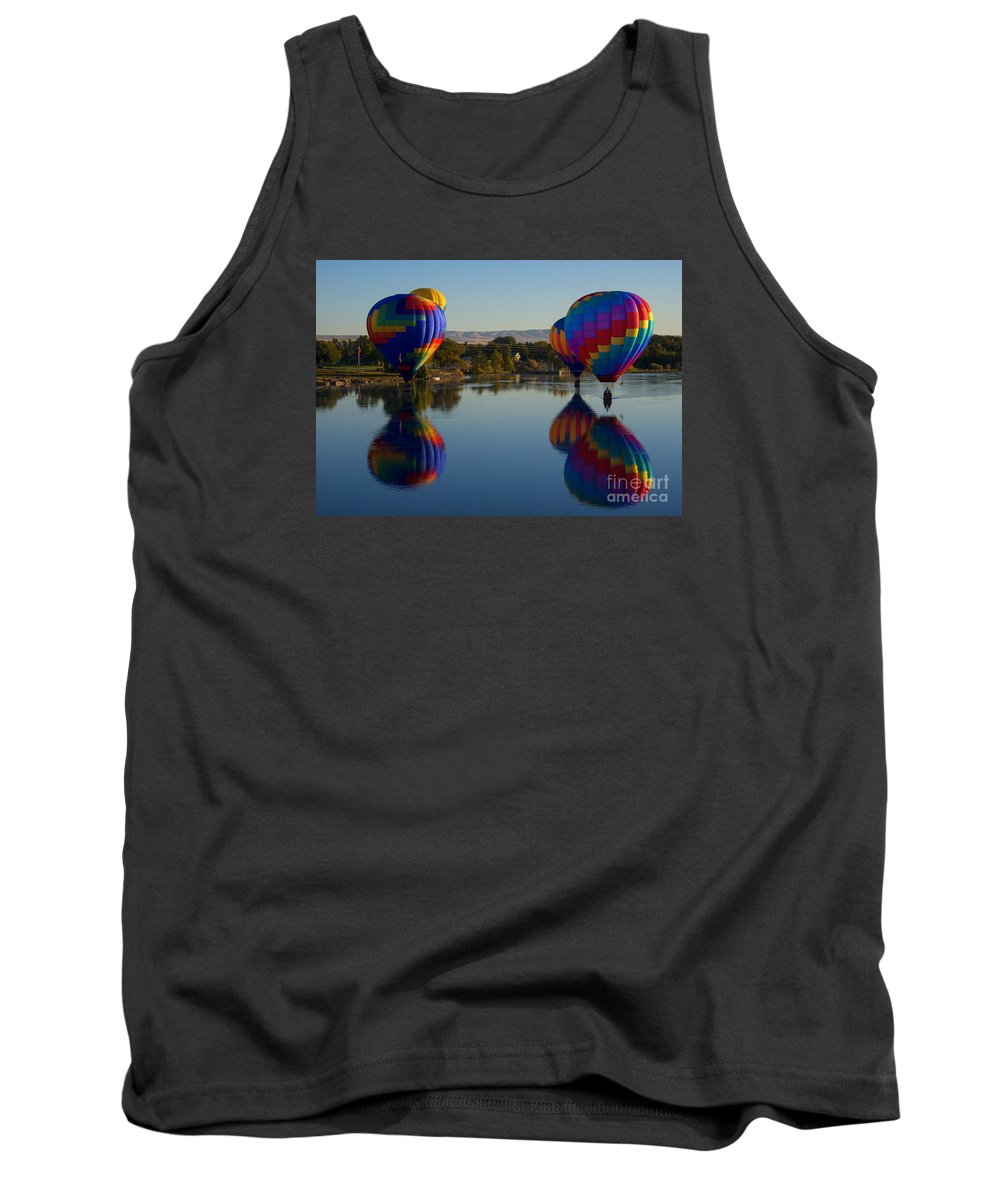 Hot-air Balloons Tank Top featuring the photograph Shadow Dancing by Mike Dawson