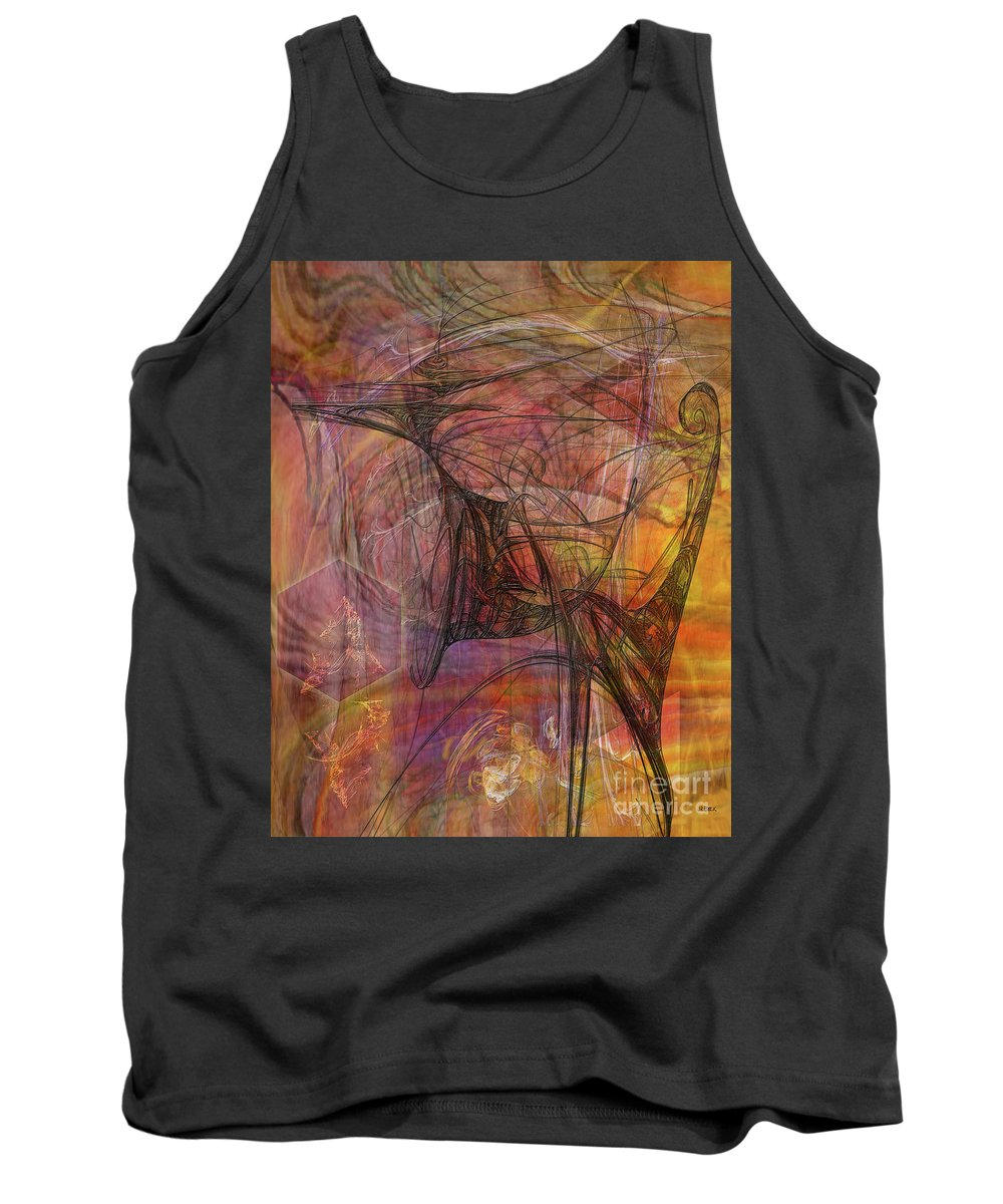 Shadow Dragon Tank Top featuring the digital art Shadow Dragon by John Beck