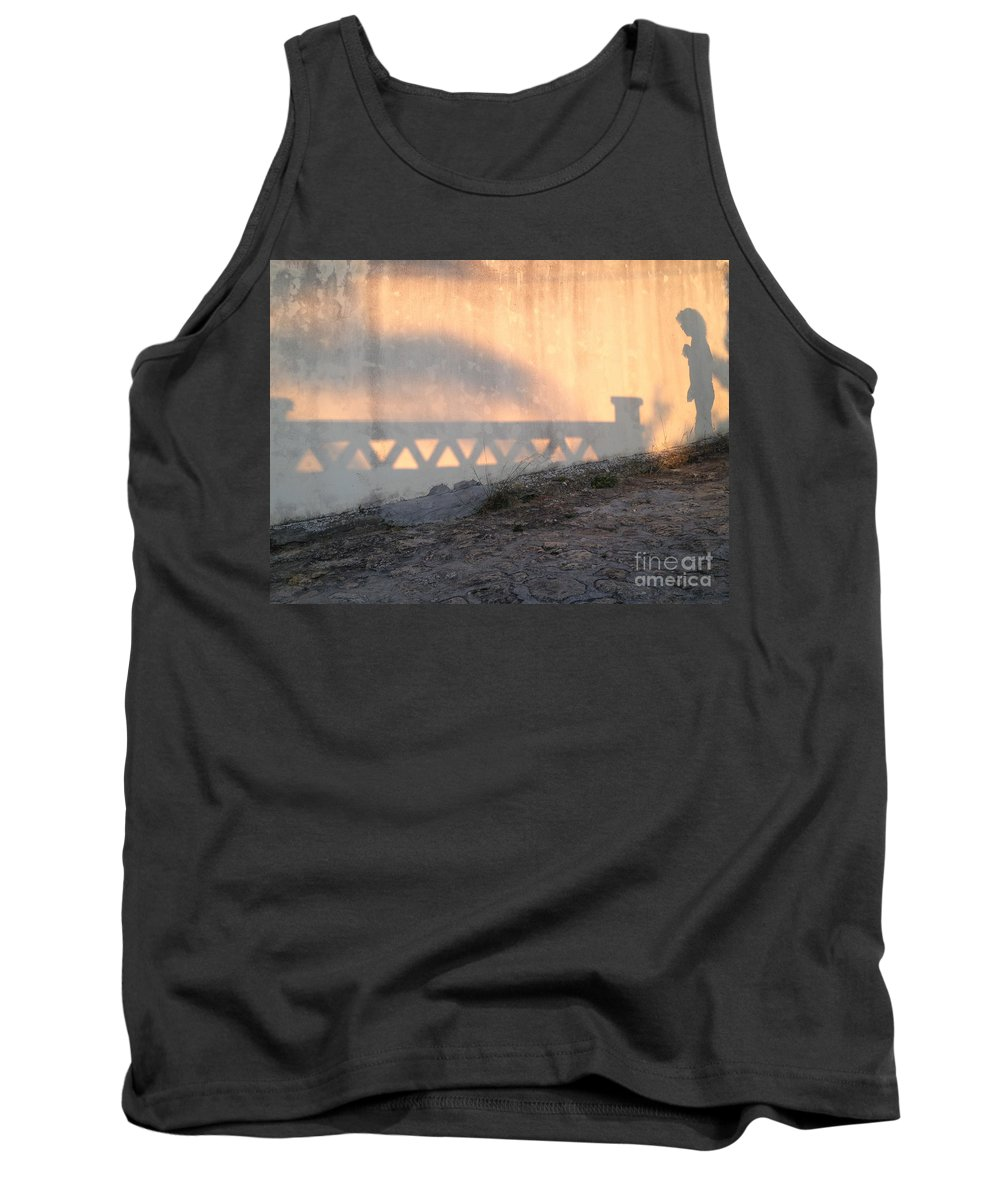 Shadow Play Tank Top featuring the photograph Shadow Play by Clay Cofer