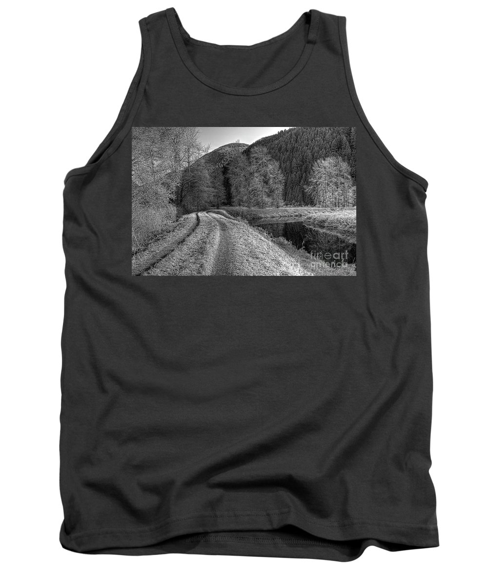 Shady Trail Tank Top featuring the photograph Shady Trail Tonemapped by Sharon Talson