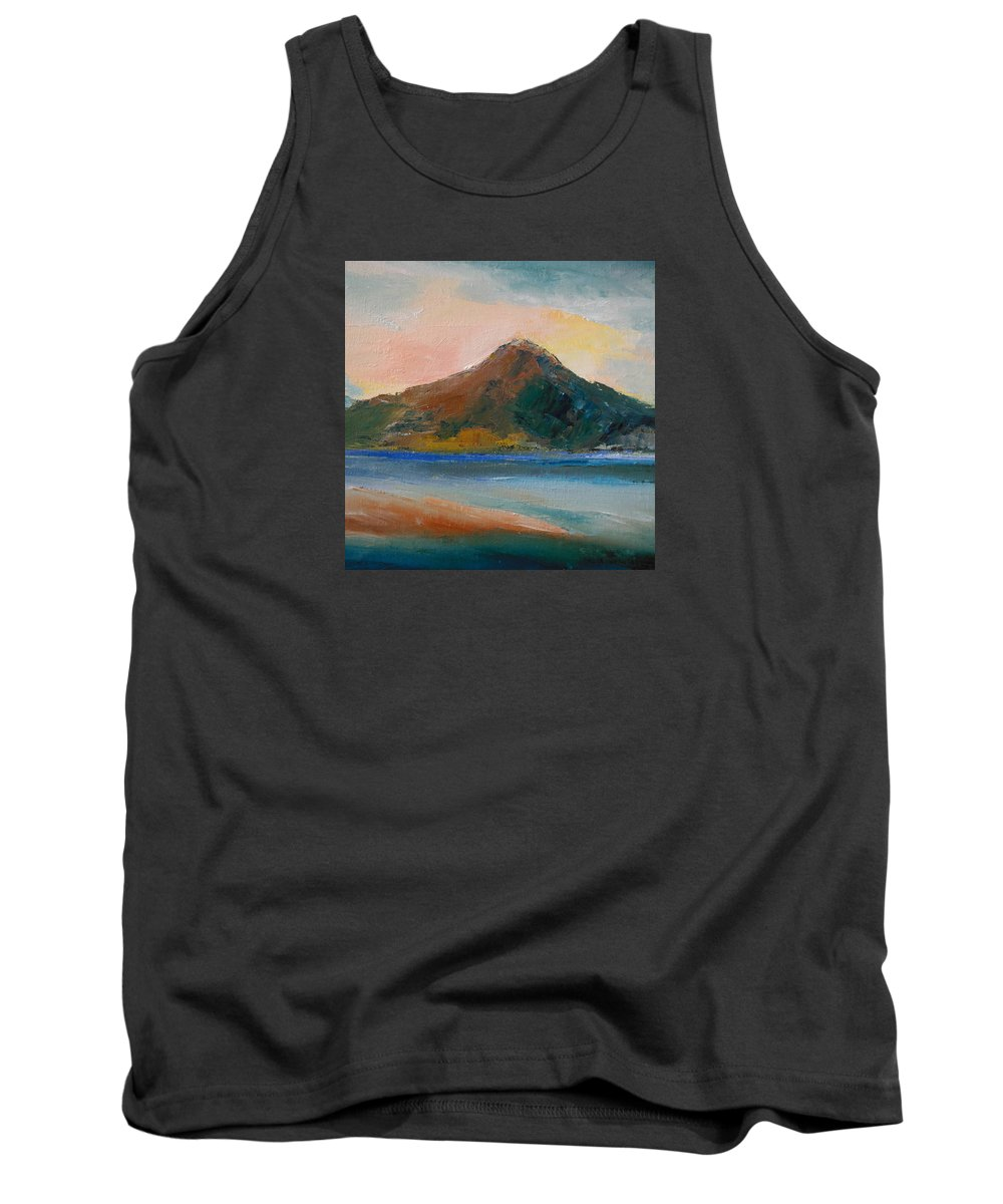 Landscape Tank Top featuring the painting Shallow 12 by Pusita Gibbs