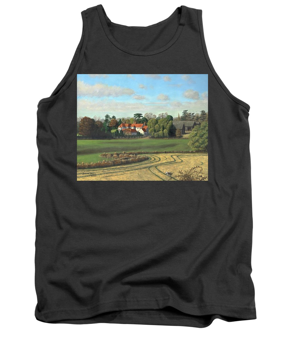 Landscape Tank Top featuring the painting Sheering Hall Near Harlow Essex by Richard Harpum