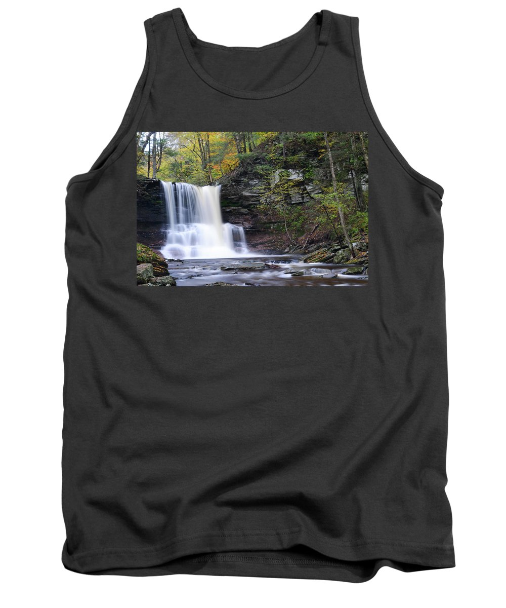 Phil Levee Tank Top featuring the photograph Sheldon Reynolds Falls by Philip LeVee