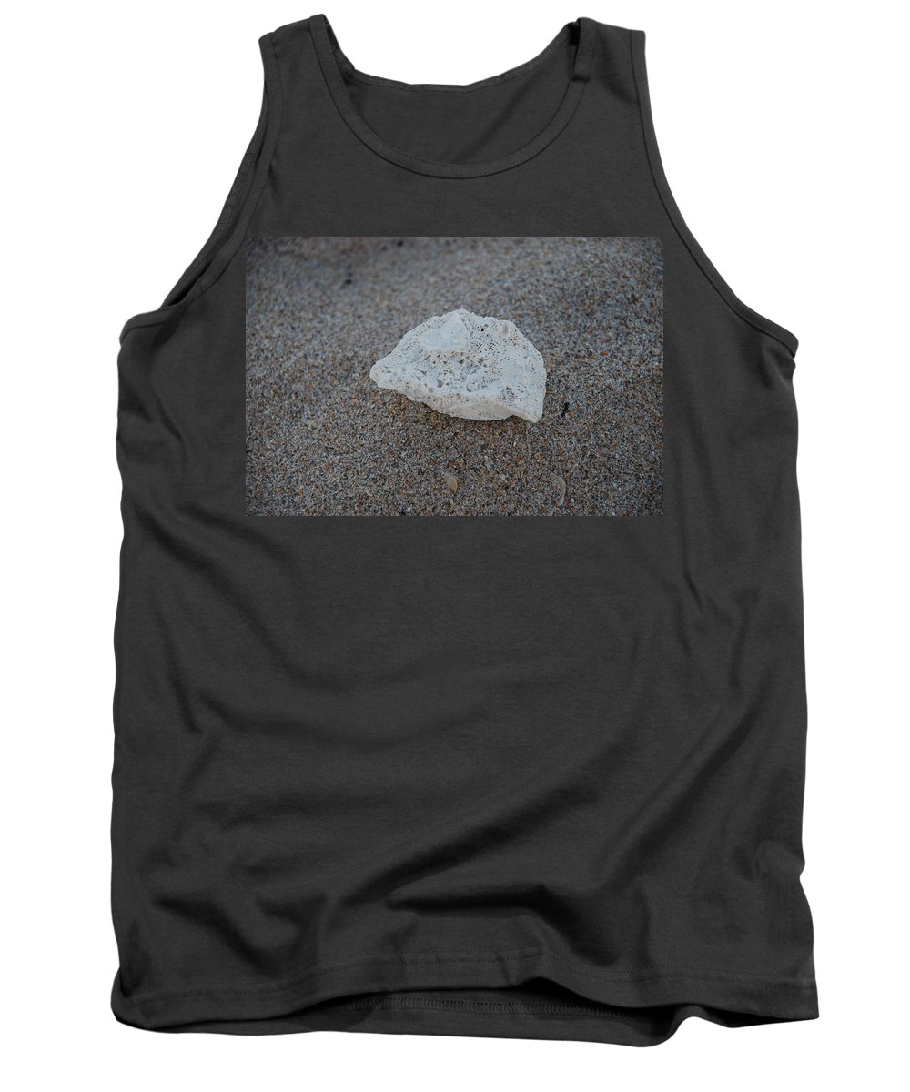 Shells Tank Top featuring the photograph Shell And Sand by Rob Hans