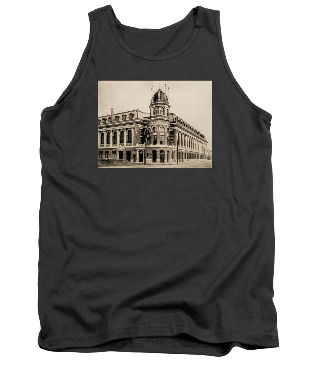 Shibe Tank Top featuring the photograph Shibe Park 1913 In Sepia by Bill Cannon