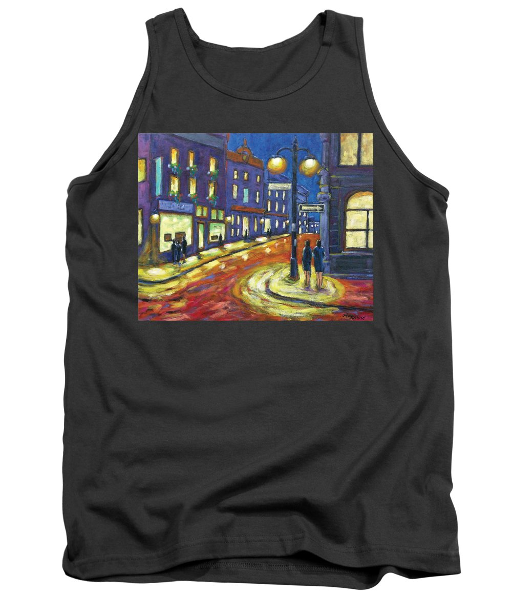 Night Tank Top featuring the painting Shimmering Night by Richard T Pranke