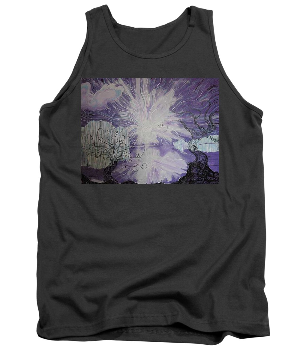 Squiggleism Tank Top featuring the painting Shore Dance by Stefan Duncan