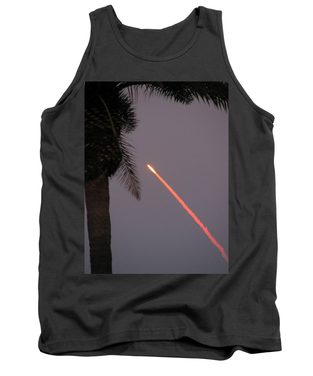 Space Tank Top featuring the photograph Shuttle by Peg Urban