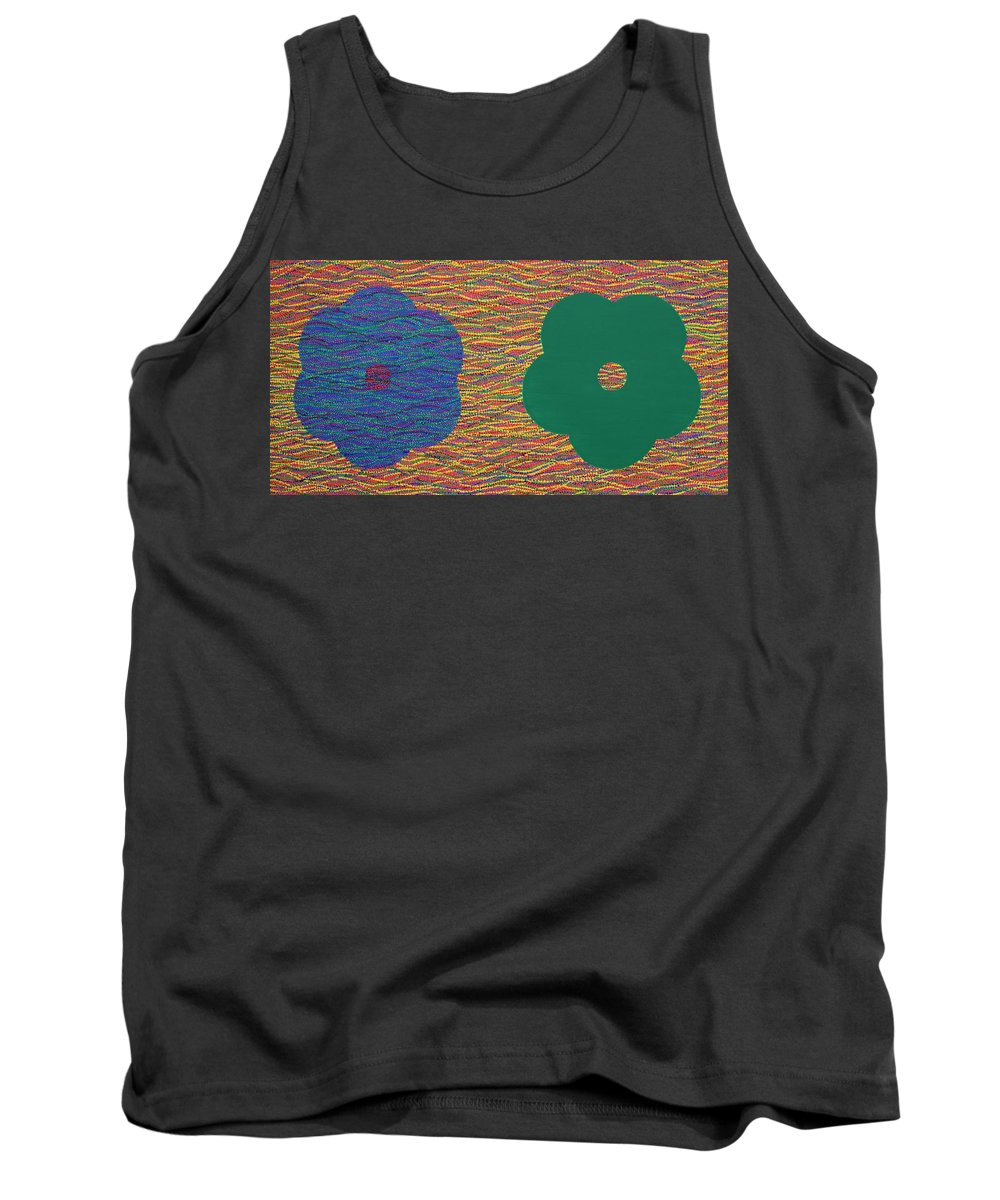 Sibling Tank Top featuring the painting Siblings 2 by Kyung Hee Hogg