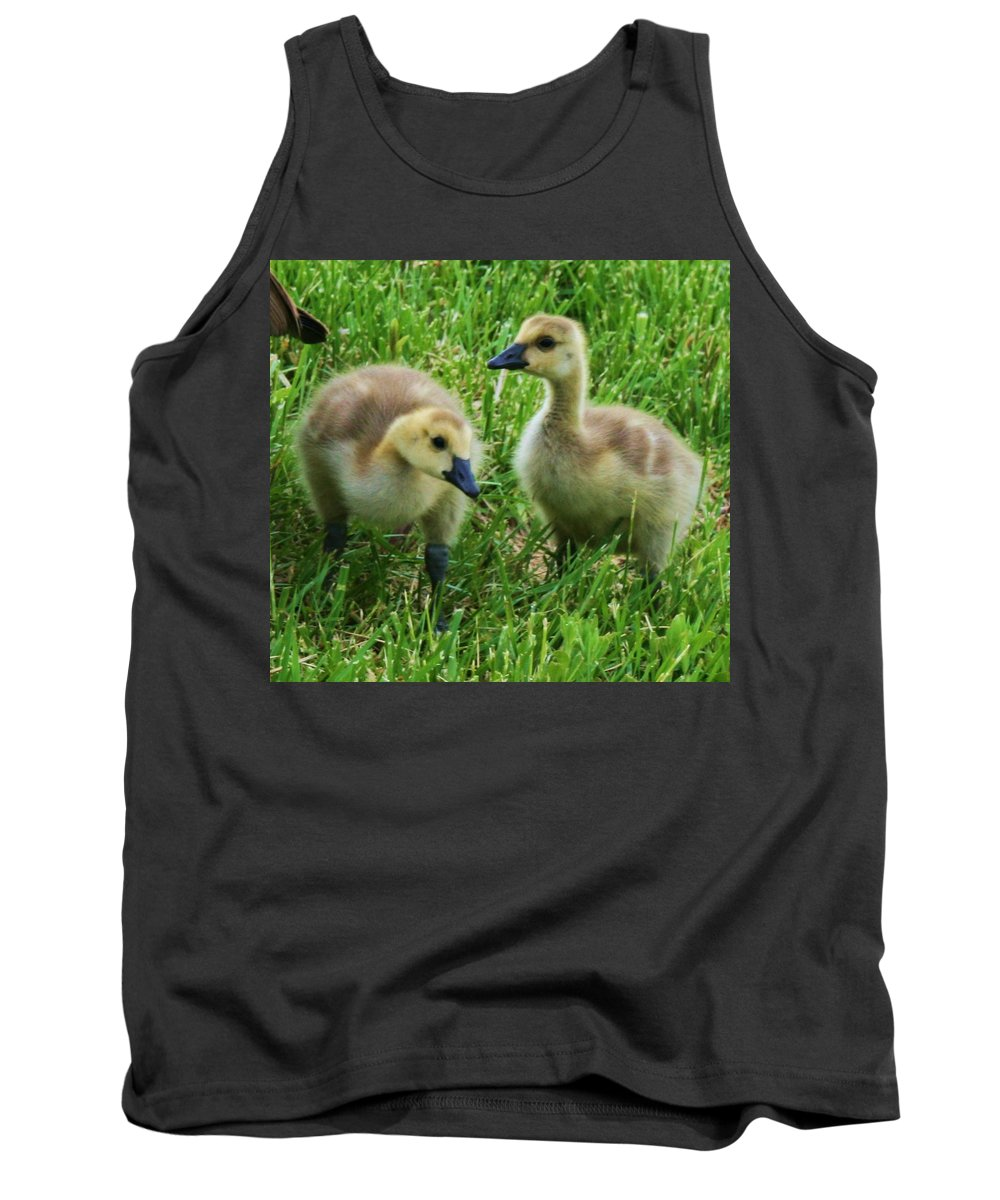 Nature Tank Top featuring the photograph Siblings by Angus Hooper Iii