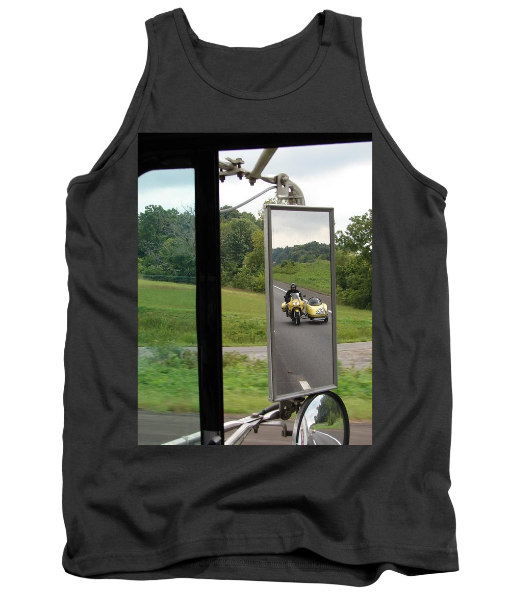 Truck Tank Top featuring the photograph Side Car Framed by J R  Seymour