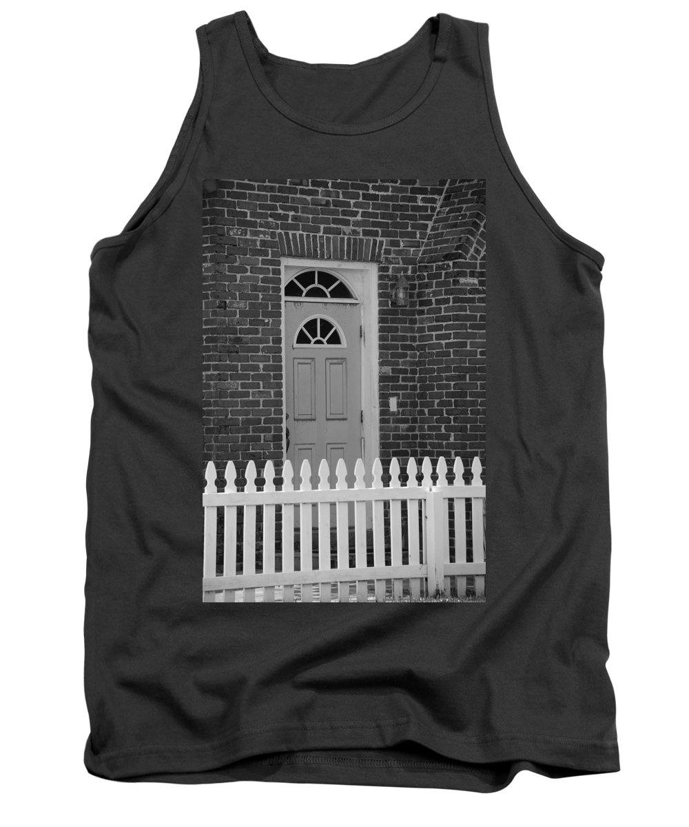 Black And White Tank Top featuring the photograph Side Door by Rob Hans