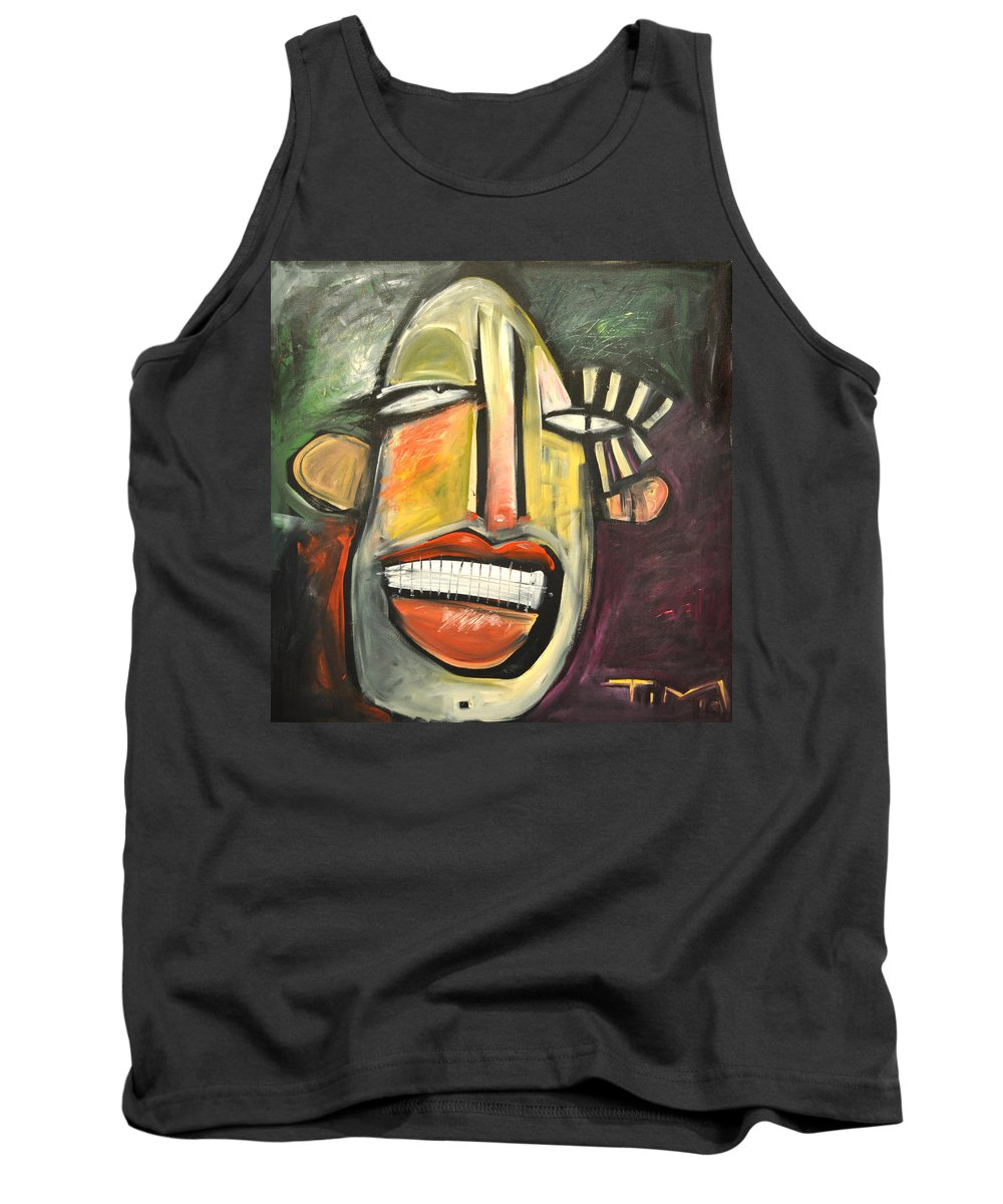 Face Tank Top featuring the painting Sideshow by Tim Nyberg