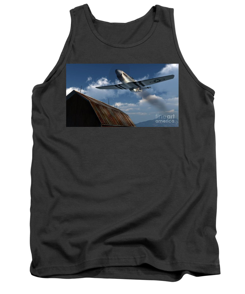 Aviation Tank Top featuring the digital art Sightseeing by Richard Rizzo