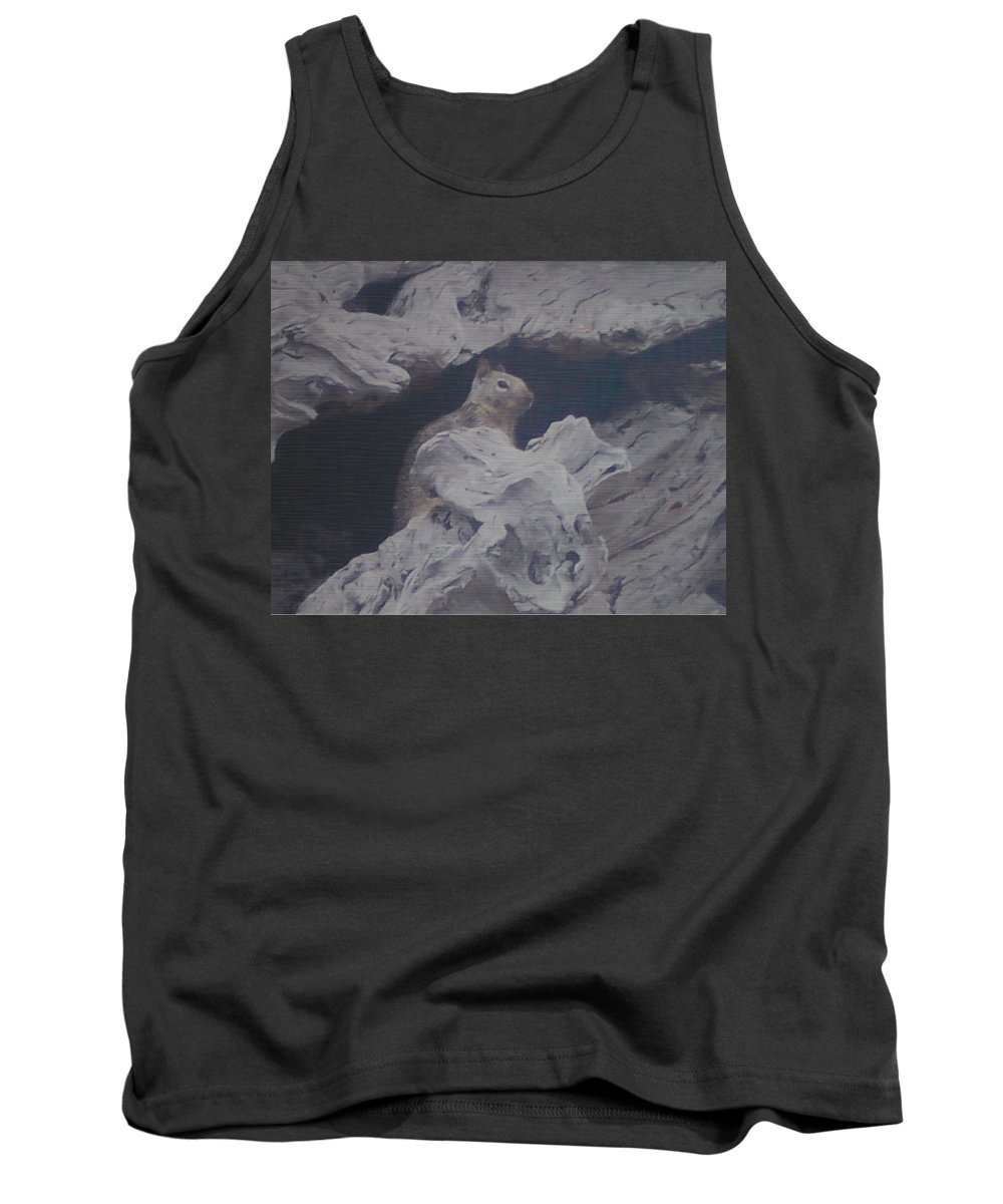 Squirrel Tank Top featuring the photograph Silent Observer by Pharris Art
