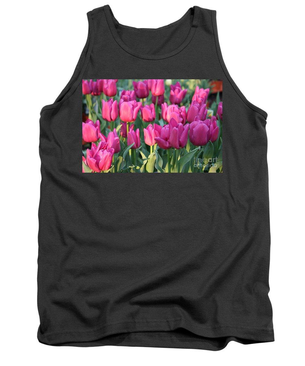 Pink Tulips Tank Top featuring the photograph Silky Pink Tulips by Carol Groenen