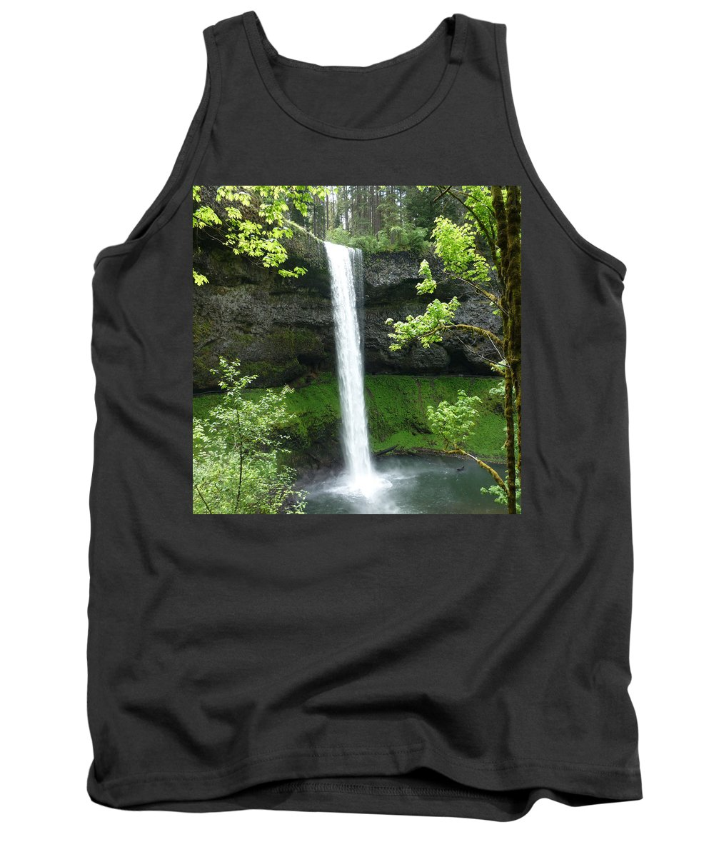 Columbia Gorge Tank Top featuring the photograph Silver Falls 1 by Ingrid Smith-Johnsen