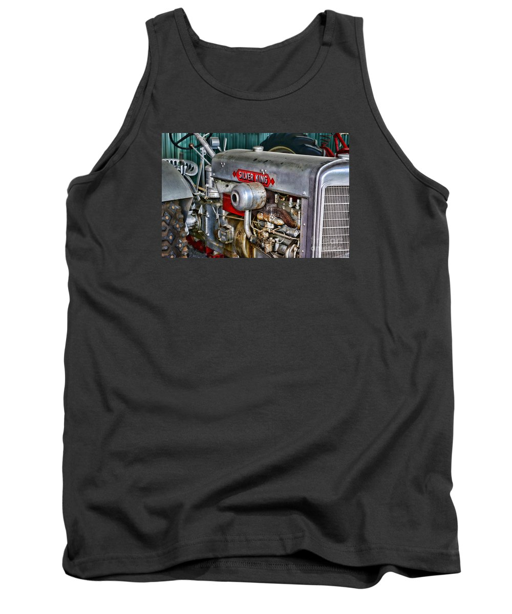 Paul Ward Tank Top featuring the photograph Silver King Tractor by Paul Ward