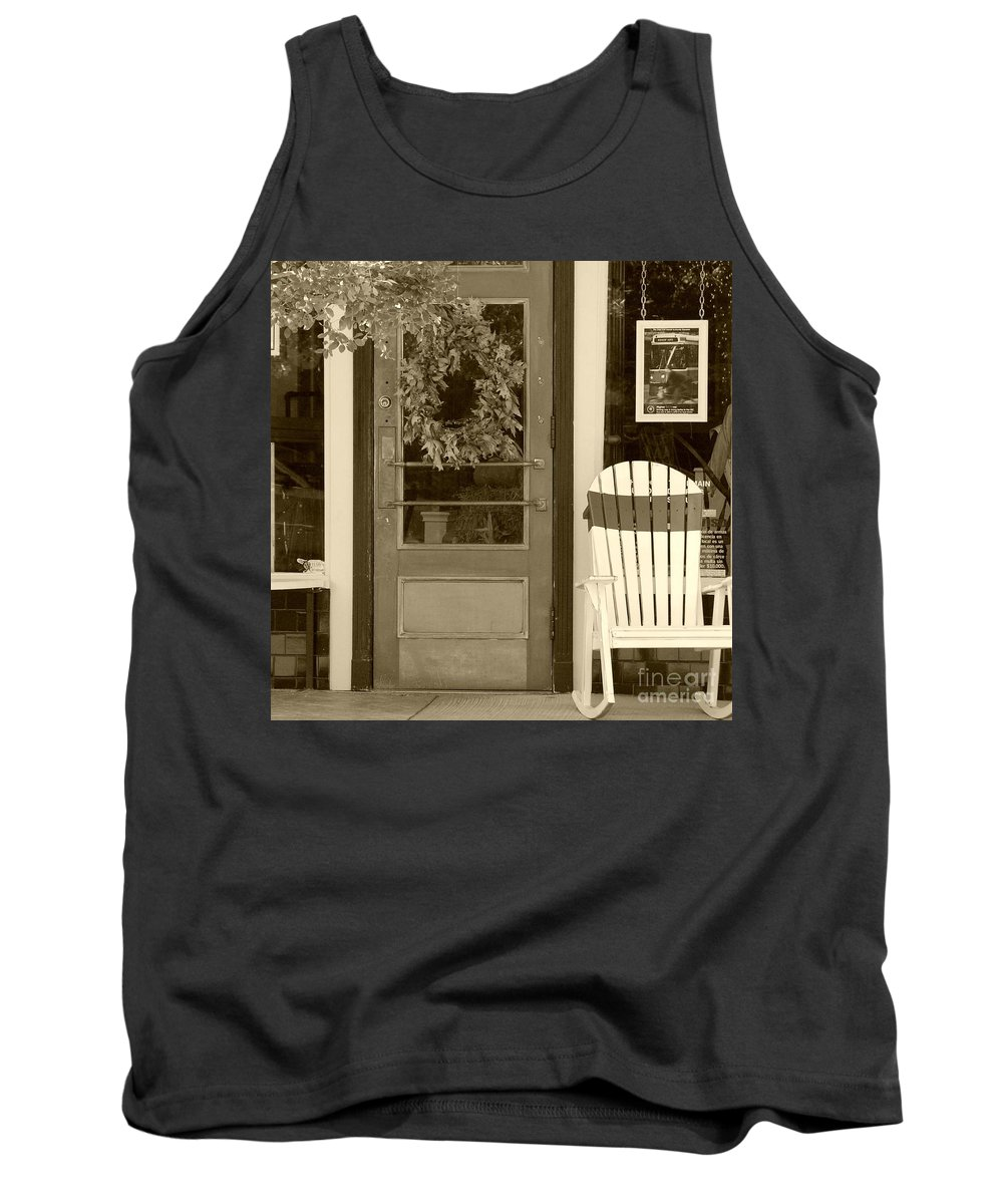 Rocking Chair Tank Top featuring the photograph Simple Times by Debbi Granruth