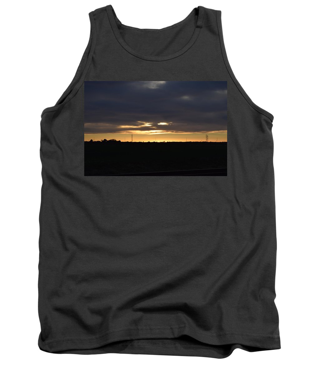 Beautiful Sunset Tank Top featuring the photograph Face In The Clouds by Charla Harrison