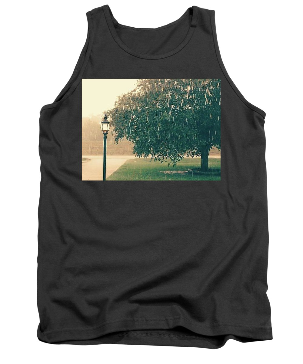 Tank Top featuring the photograph Singing In The Rain by Jaime Gaspard