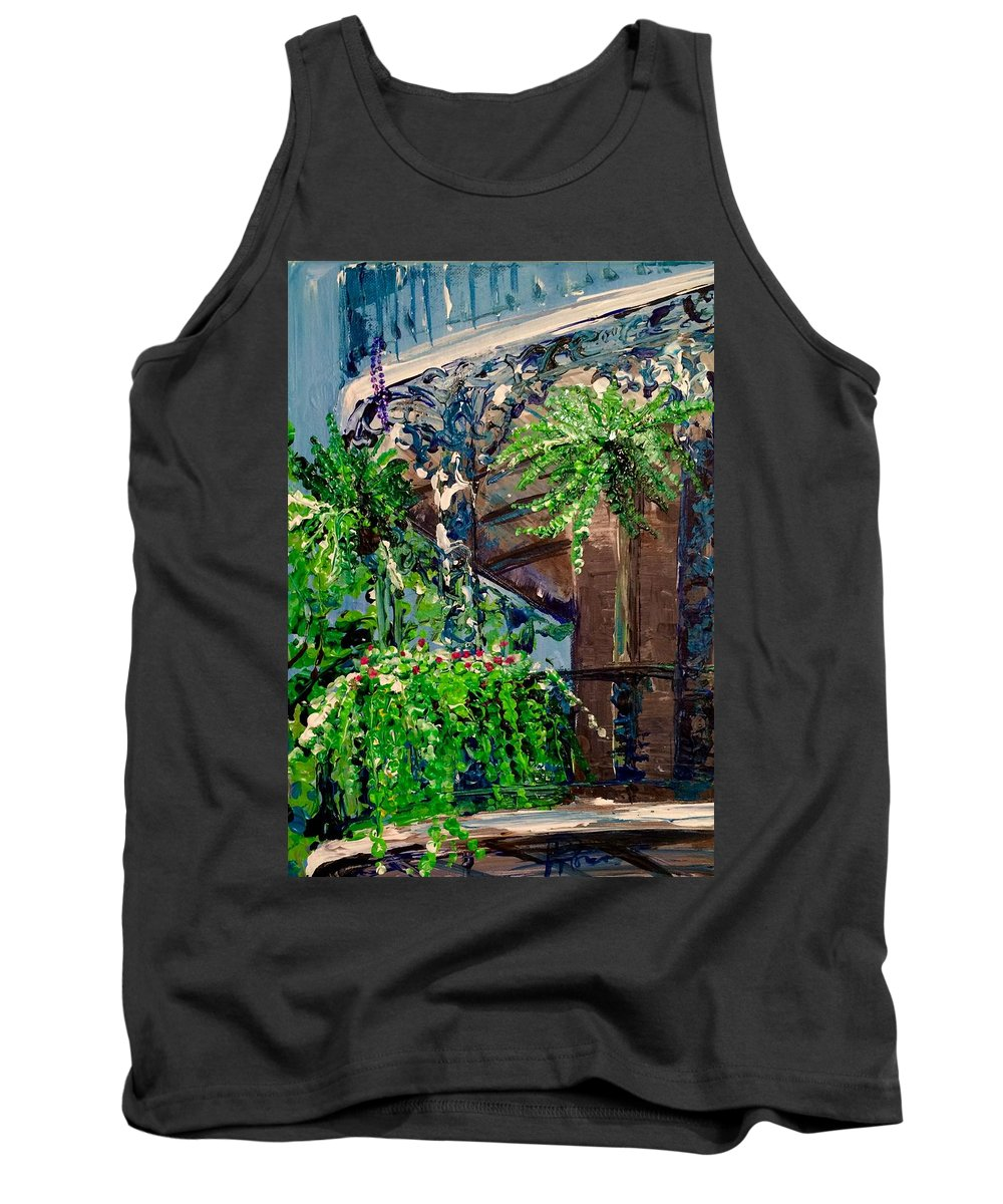 French Quarter Tank Top featuring the painting Single Strand by Denise Morencie