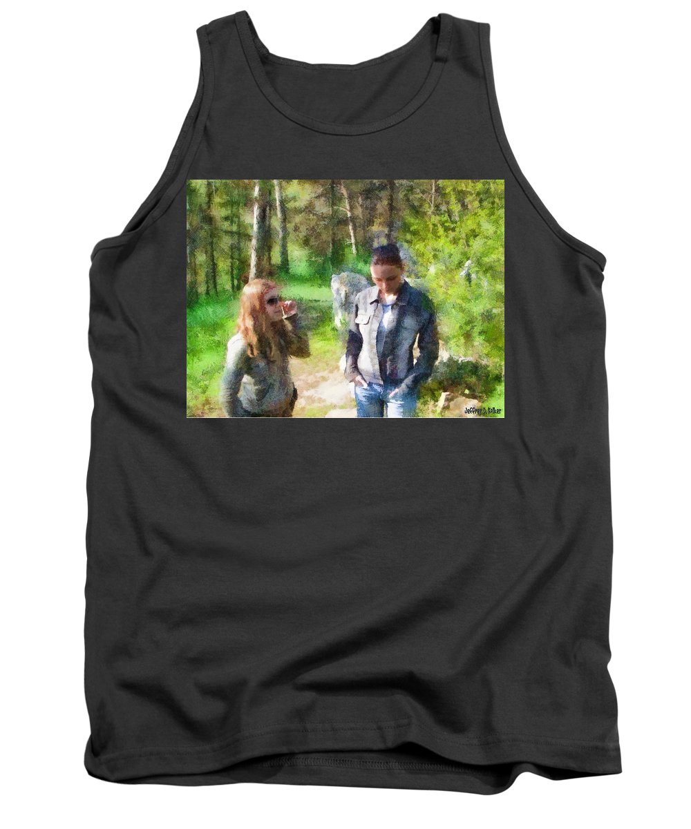 Sisters Tank Top featuring the painting Sisters by Jeffrey Kolker