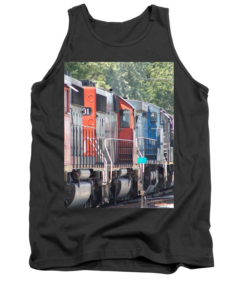 Tank Top featuring the photograph Sitting In The Switching Yard by J R  Seymour