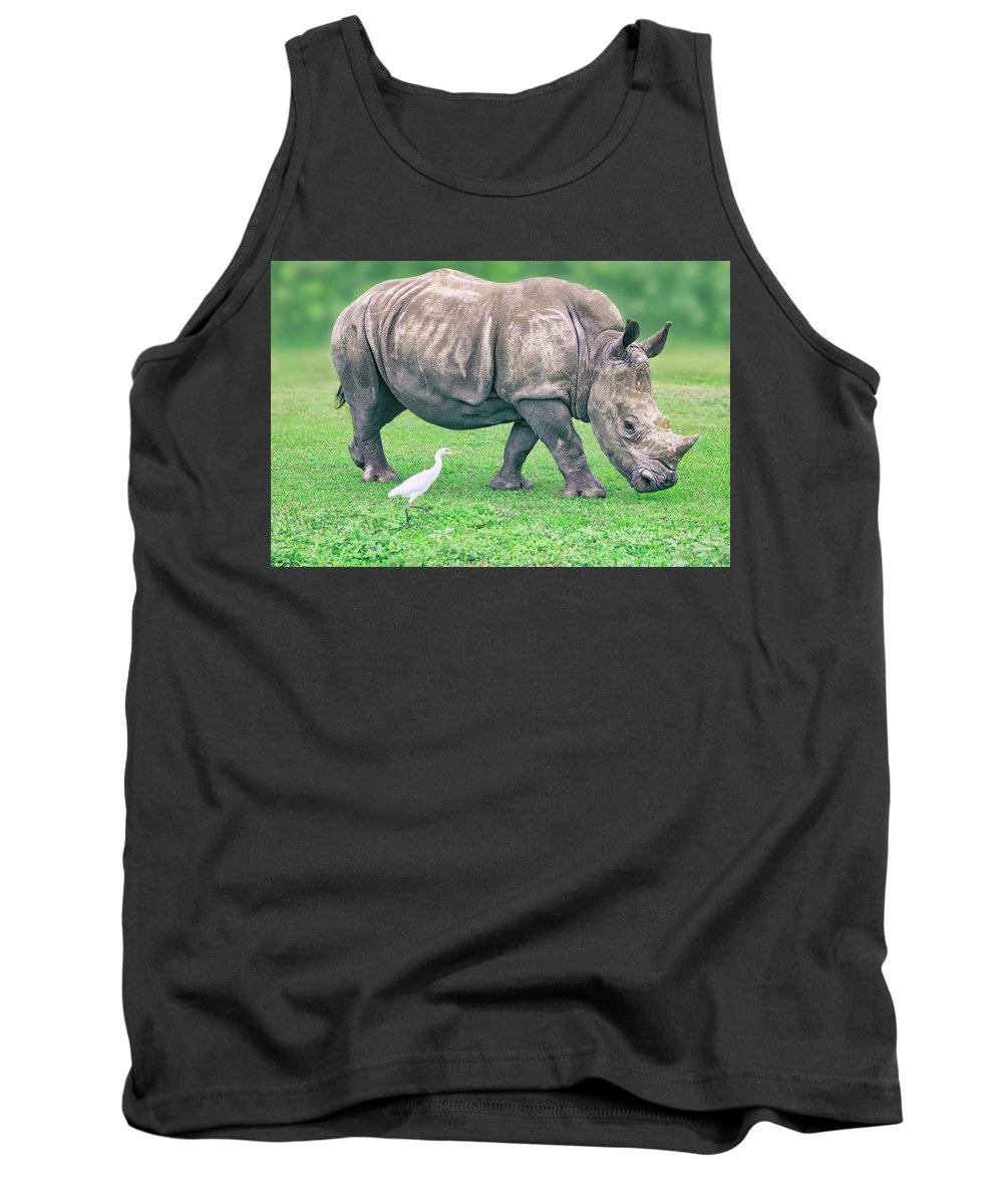 Animals Tank Top featuring the photograph Size Doesn't Matter by Iryna Goodall