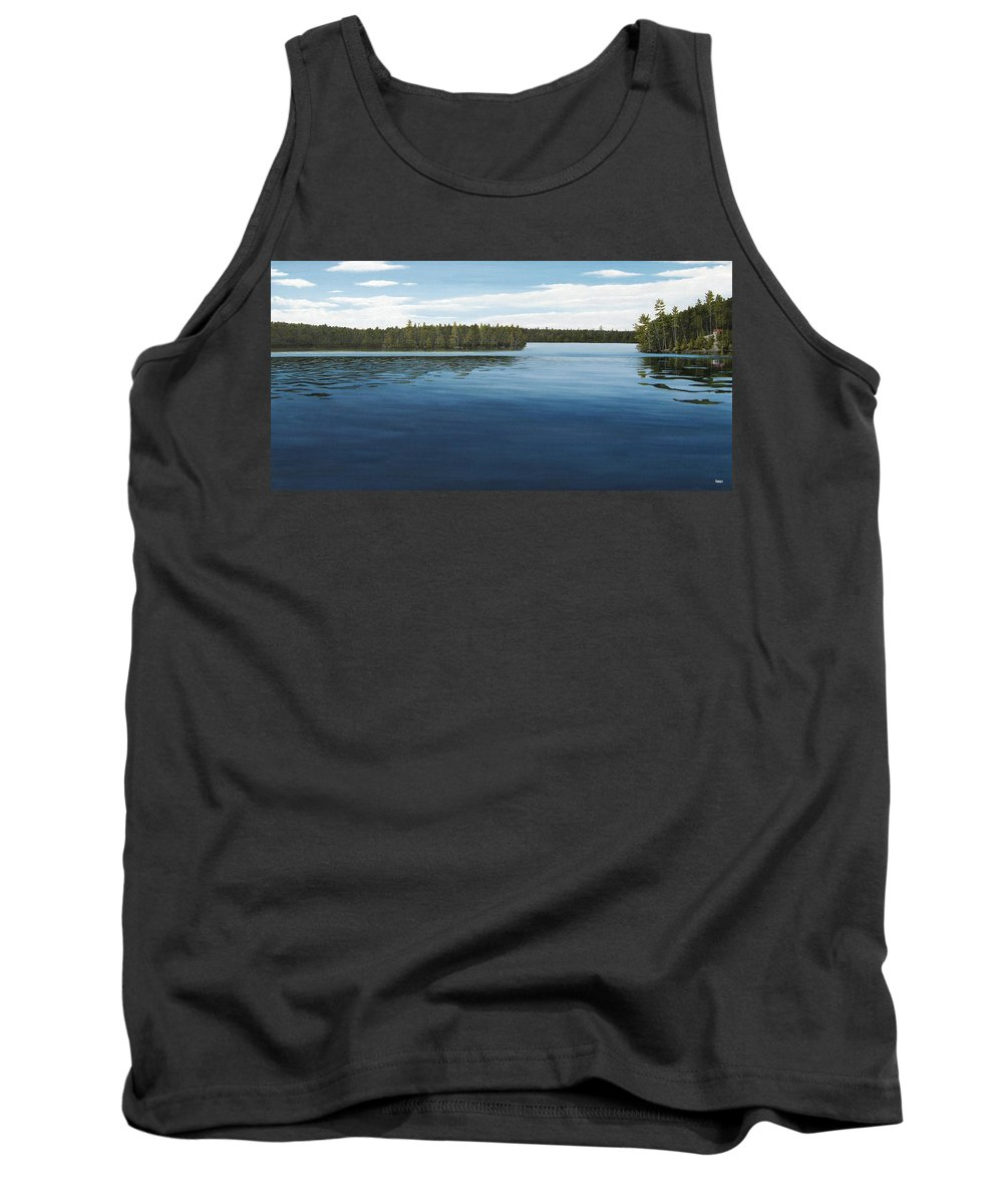 Landscapes Tank Top featuring the painting Skinners Bay Muskoka by Kenneth M Kirsch