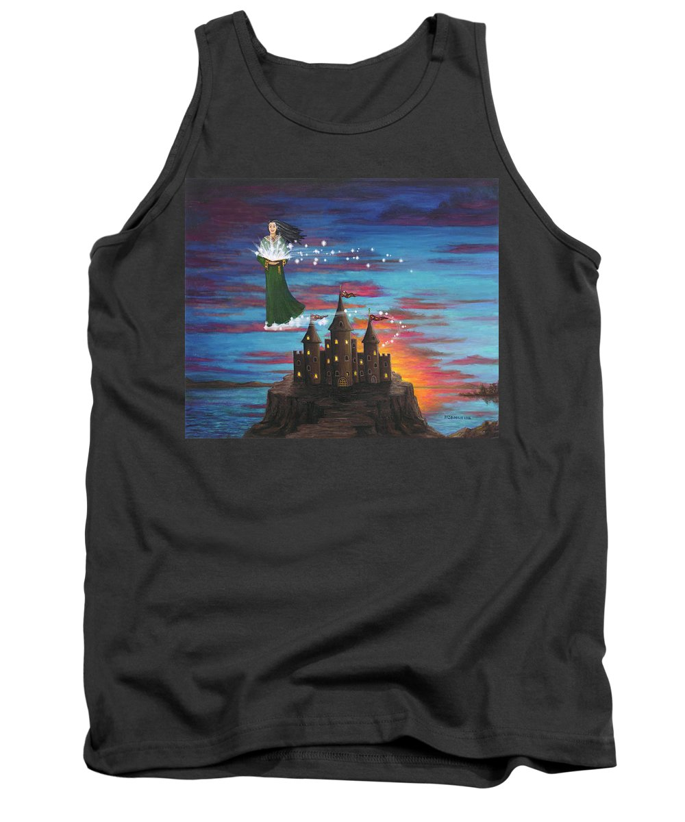 Wizard Tank Top featuring the digital art Sky Walker by Roz Eve