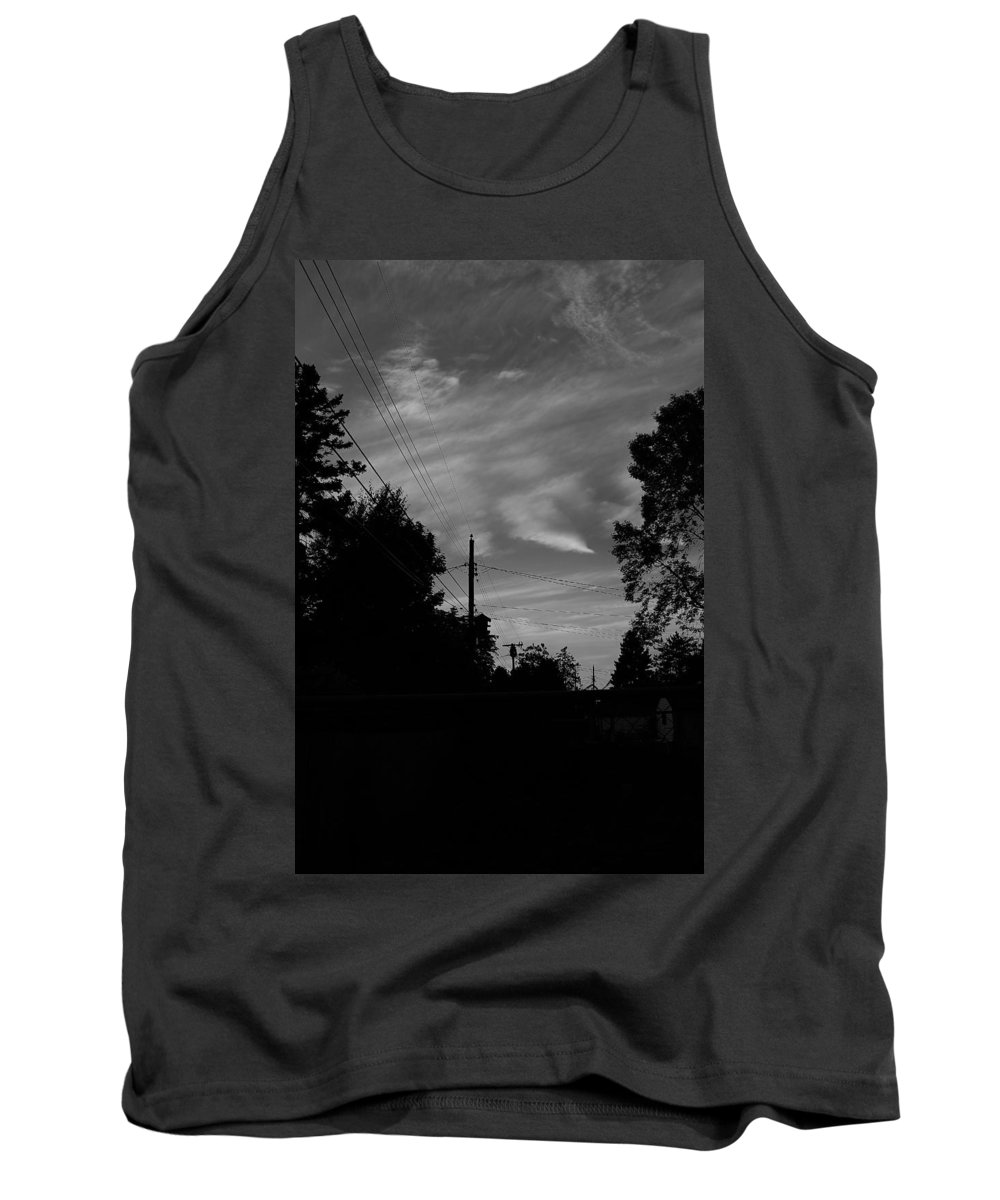 Tank Top featuring the photograph Sky With Clouds by John Bichler