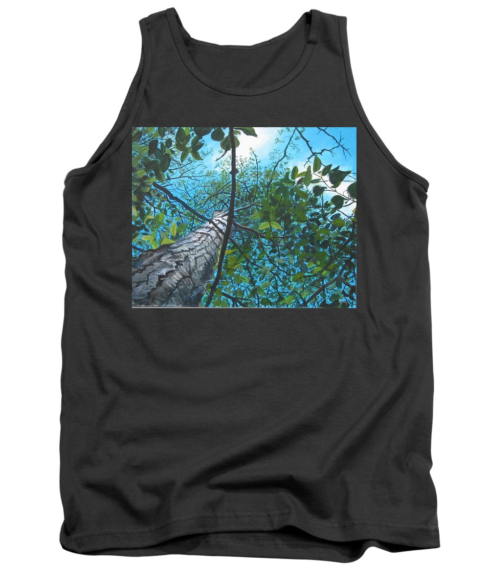 Landscape Tank Top featuring the painting Skyward by William Brody